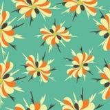 Fundo abstrato colorido do teste padrão de flores do outono Ilustração Stock