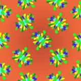 Fundo abstrato colorido do teste padrão de flores do verão Ilustração do Vetor