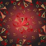 Fundo abstrato colorido do teste padrão floral da fantasia Ilustração Royalty Free