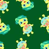 Fundo abstrato colorido do teste padrão verde do patinho Ilustração Stock
