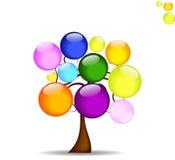Fundo abstrato com árvore Foto de Stock