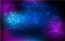 Fundo abstrato com árvores de Natal ilustração do vetor