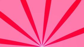 Fundo abstrato com animação de feixes do sol Fundo radial retro rendição 3d ilustração do vetor