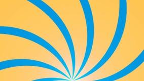 Fundo abstrato com animação de feixes do sol Fundo radial retro rendição 3d ilustração royalty free