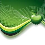 Fundo abstrato com Apple Imagem de Stock Royalty Free