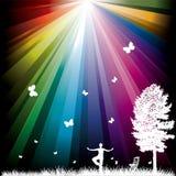 Fundo abstrato com arco-íris ilustração royalty free