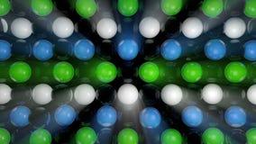 Fundo abstrato com as esferas 3d realísticas Contexto colorido Imagens de Stock Royalty Free