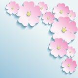 Fundo abstrato com as flores 3d ilustração royalty free