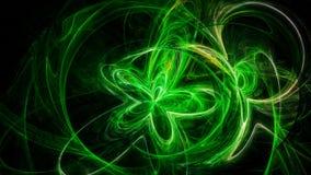 Fundo abstrato com as listras envenenadas verde Ilustração do Vetor