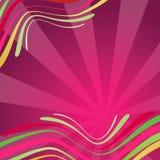 Fundo abstrato com as ondas na cor cor-de-rosa Imagens de Stock