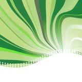 Fundo abstrato com as ondas na cor verde Fotografia de Stock