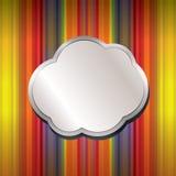 Fundo abstrato com balão da promoção Imagens de Stock Royalty Free