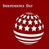 Fundo abstrato com a bandeira abstrata de América ilustração stock