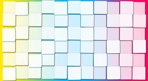 Fundo abstrato com blocos cúbicos do arco-íris Fotos de Stock