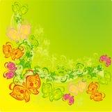 Fundo abstrato com borboleta, vetor   ilustração stock