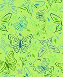 Fundo abstrato com borboletas. Vetor Fotografia de Stock