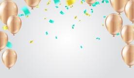 Fundo abstrato com brilho de balões coloridos Aniversário, partido, apresentação, venda, aniversário e projeto do clube ilustração royalty free
