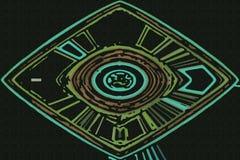 Fundo abstrato com círculos ilustração do vetor