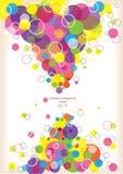 Fundo abstrato com círculos de cor ilustração royalty free