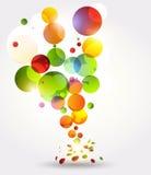 Fundo abstrato com círculos do arco-íris Imagens de Stock Royalty Free