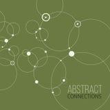 Fundo abstrato com círculos e pontos Conceito da conexão Ilustração do vetor Imagem de Stock Royalty Free
