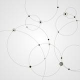 Fundo abstrato com círculos e pontos Conceito da conexão Ilustração do vetor Imagem de Stock