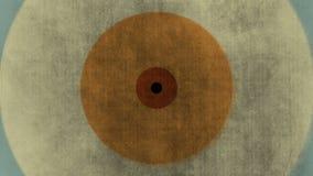 Fundo abstrato com círculos retros da textura de papel colorida ilustração royalty free