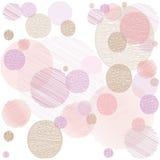 Fundo abstrato com círculos roxos e cor-de-rosa ilustração do vetor