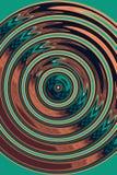 Fundo abstrato com círculos, verde e marrom, fluxo e movimento fotografia de stock royalty free