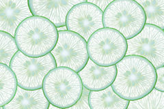 Fundo abstrato com citrinas de fatias do cal Fotos de Stock