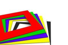 Fundo abstrato com cor quadrada Fotografia de Stock Royalty Free