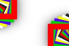 Fundo abstrato com cor quadrada Fotos de Stock