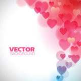 Fundo abstrato com corações ilustração do vetor