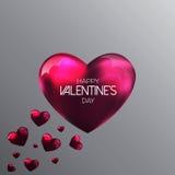 Fundo abstrato com corações de um Valentim do rosa Imagens de Stock Royalty Free