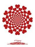 Fundo abstrato com corações, psiquiatra ilimitado ilustração stock