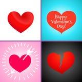 Fundo abstrato com corações vermelhos Vetor Imagem de Stock Royalty Free