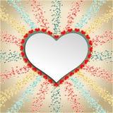 Fundo abstrato com corações vermelhos Vetor Fotos de Stock Royalty Free