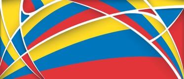Fundo abstrato com cores da bandeira de Colômbia, de Equador ou de Venezuela ilustração royalty free