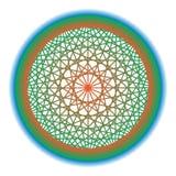 Fundo abstrato com cruzamento de formas geométricas Geometria de giro da estrela Fotografia de Stock Royalty Free