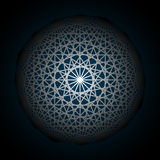 Fundo abstrato com cruzamento de formas geométricas Geometria de giro da estrela Foto de Stock Royalty Free