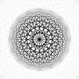 Fundo abstrato com cruzamento de formas geométricas Geometria de giro da estrela Imagens de Stock