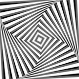 Fundo abstrato com efeito da ilusão ótica. Imagens de Stock