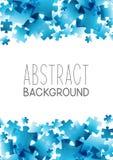 Fundo abstrato com elementos azuis do enigma Foto de Stock Royalty Free