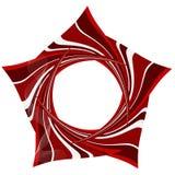 Fundo abstrato com elementos listrados vermelhos Fotos de Stock Royalty Free
