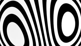 Fundo abstrato com elementos preto e branco Contexto sem emenda do hypnotic do laço ilustração royalty free