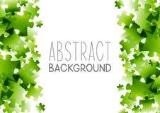 Fundo abstrato com elementos verdes do enigma Imagem de Stock