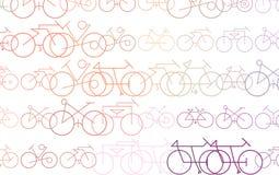 Fundo abstrato com esboço da bicicleta Gráfico, forma, detalhes & Web ilustração stock