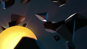 Fundo abstrato com esfera de explosão ilustração stock