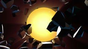 Fundo abstrato com esfera de explosão 3d ilustração royalty free