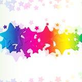 Fundo abstrato com estrelas brilhantes. Fotos de Stock